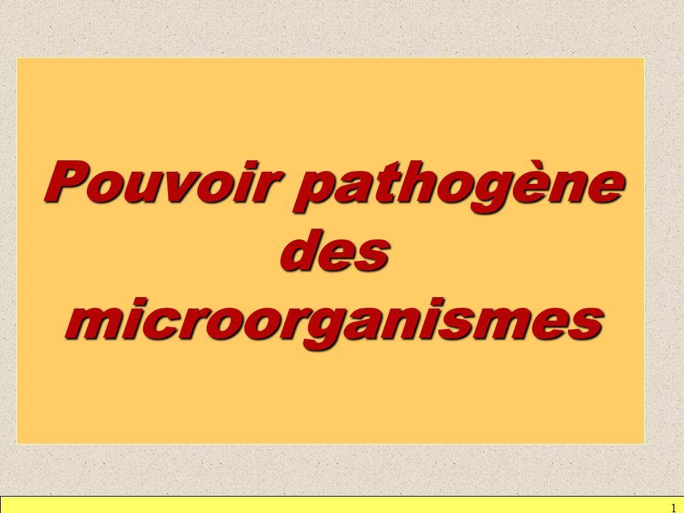 Pouvoir pathogène des microorganismes