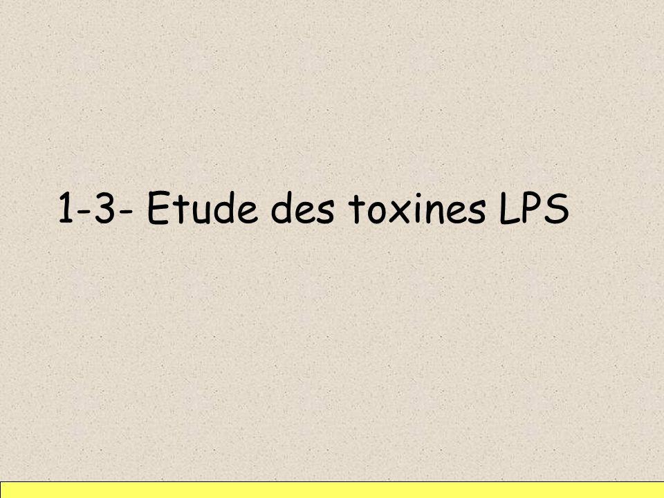 1-3- Etude des toxines LPS