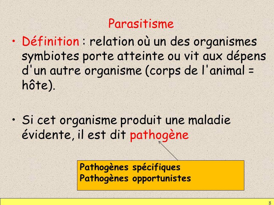 Si cet organisme produit une maladie évidente, il est dit pathogène