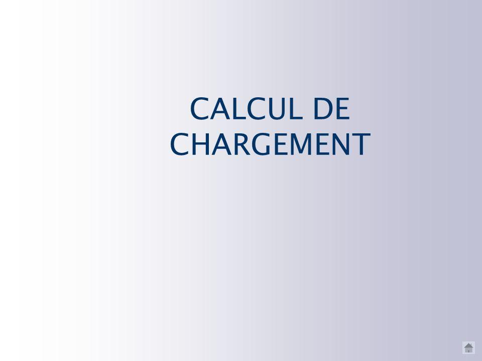 CALCUL DE CHARGEMENT