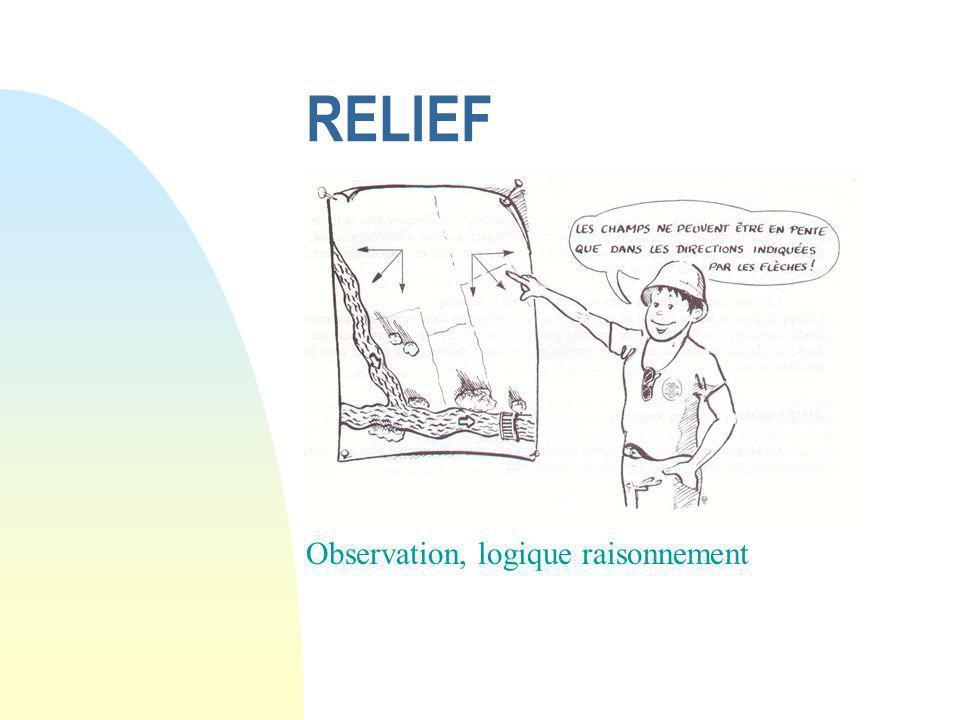 RELIEF Observation, logique raisonnement