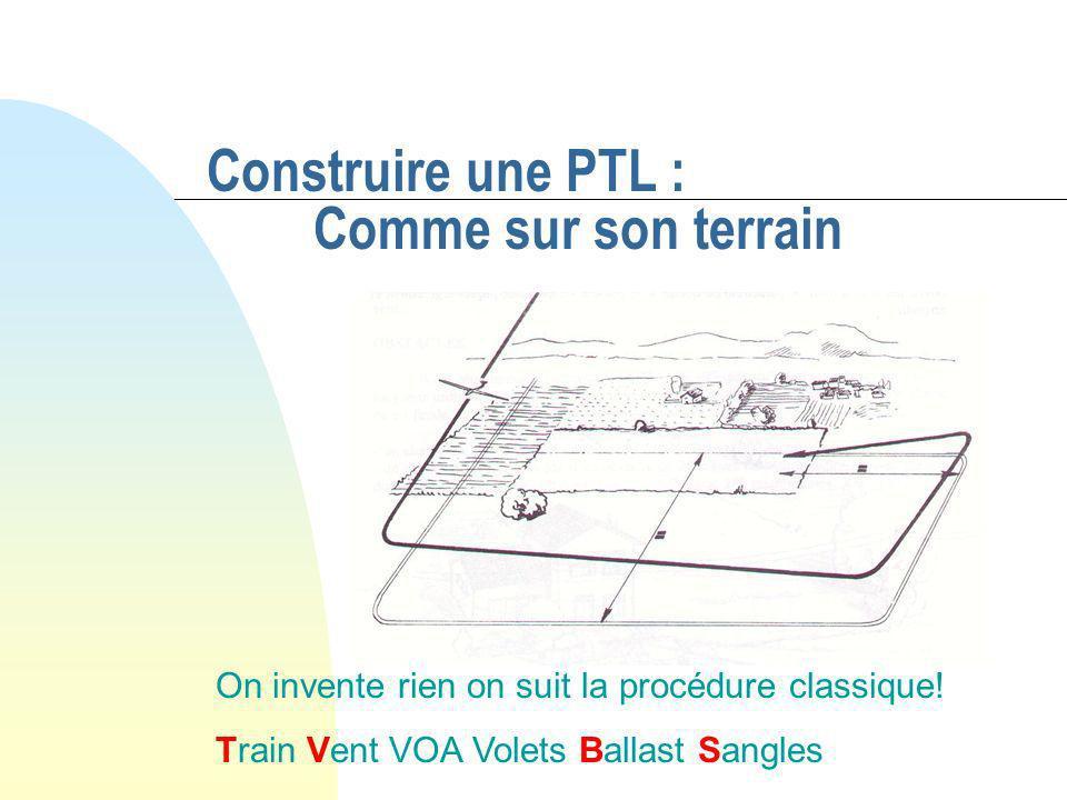 Construire une PTL : Comme sur son terrain