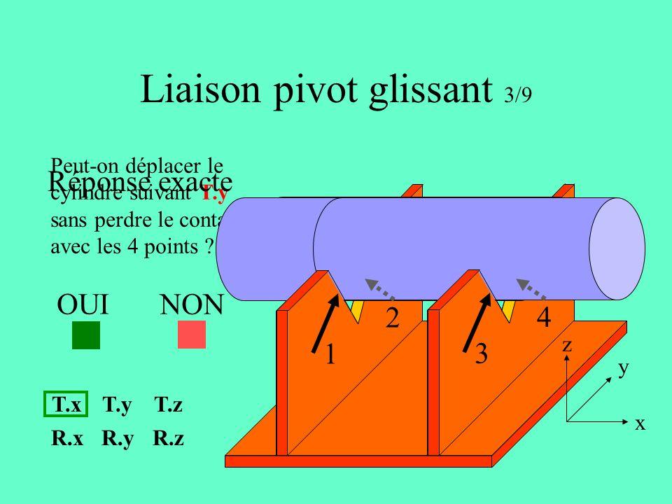Liaison pivot glissant 3/9