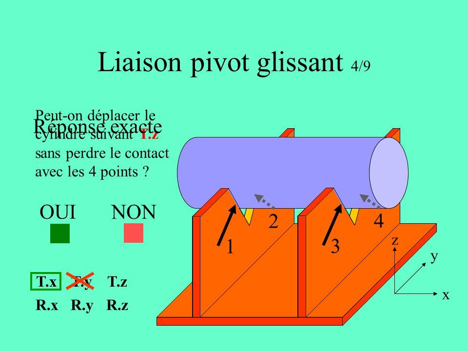 Liaison pivot glissant 4/9