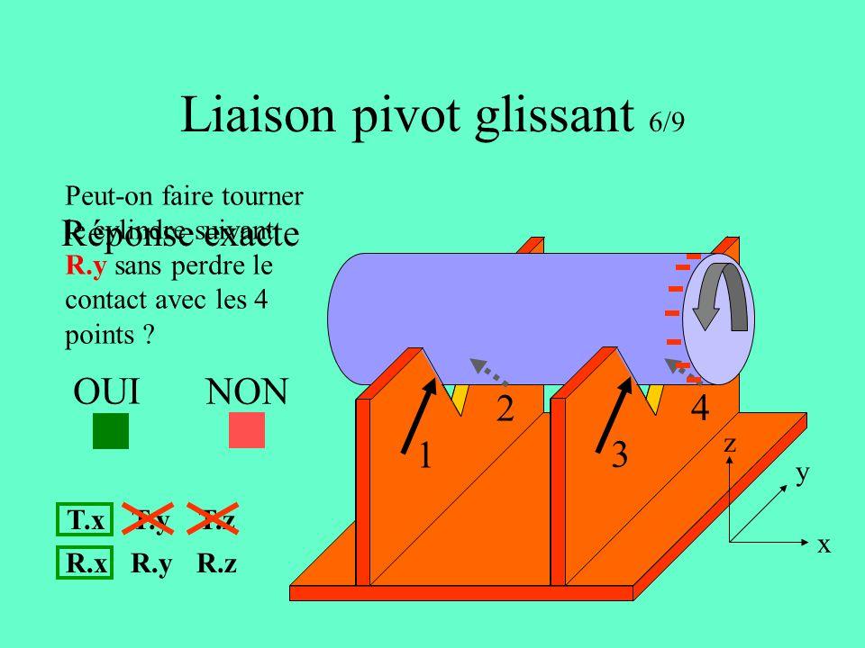 Liaison pivot glissant 6/9