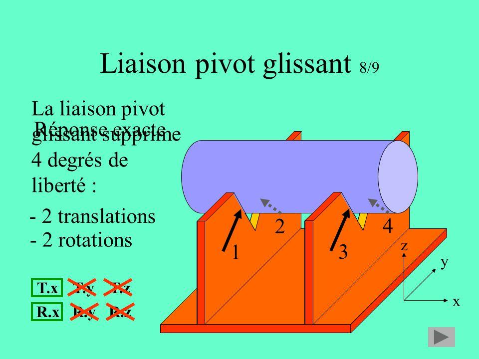 Liaison pivot glissant 8/9