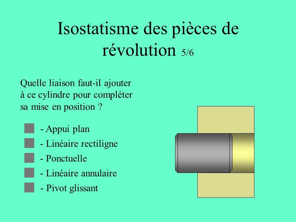 Isostatisme des pièces de révolution 5/6