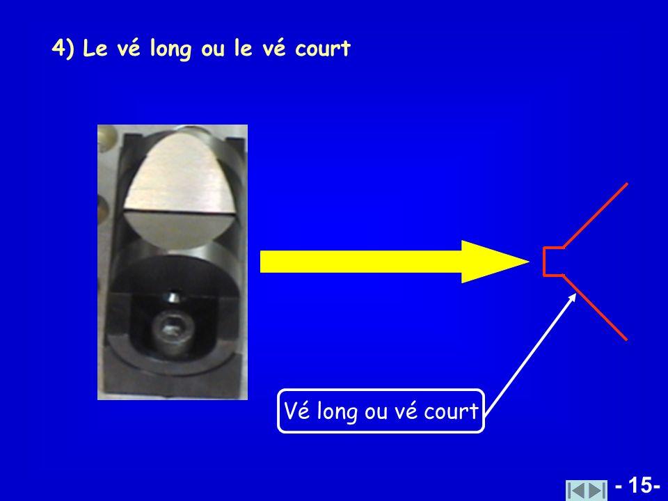 4) Le vé long ou le vé court