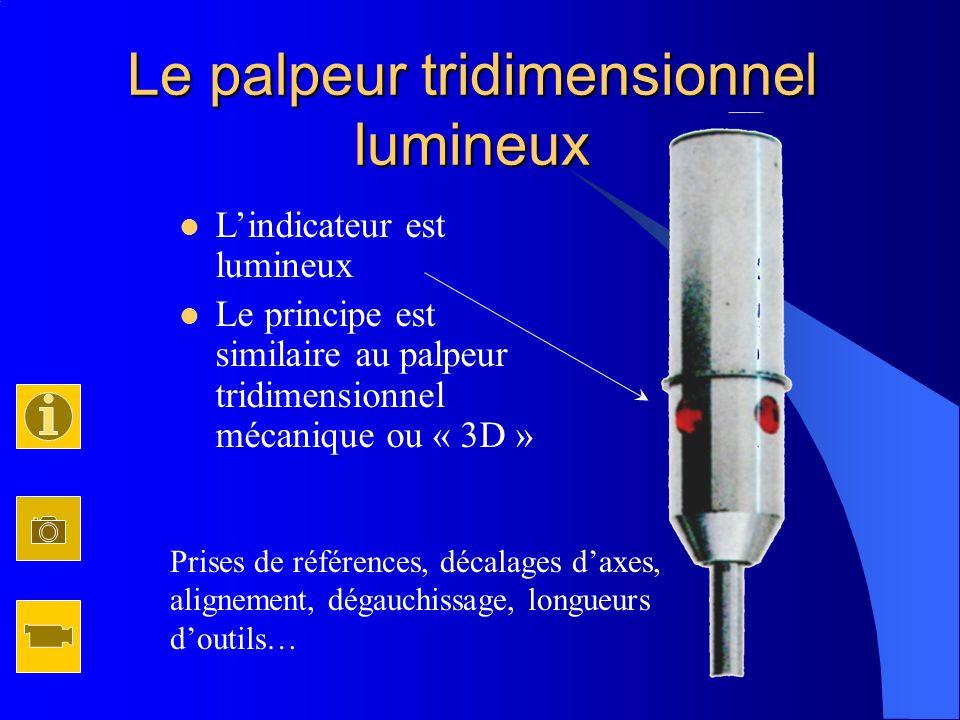 Le palpeur tridimensionnel lumineux