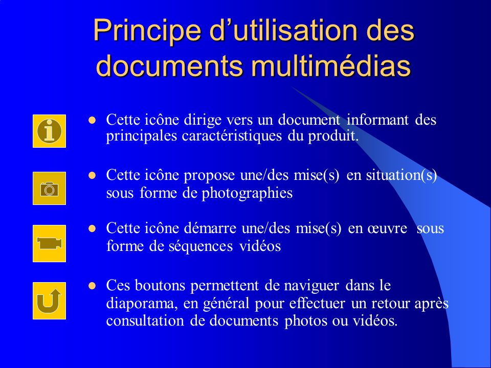 Principe d'utilisation des documents multimédias