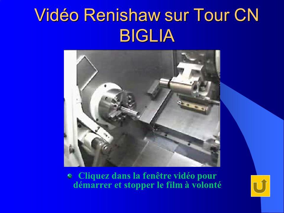 Vidéo Renishaw sur Tour CN BIGLIA