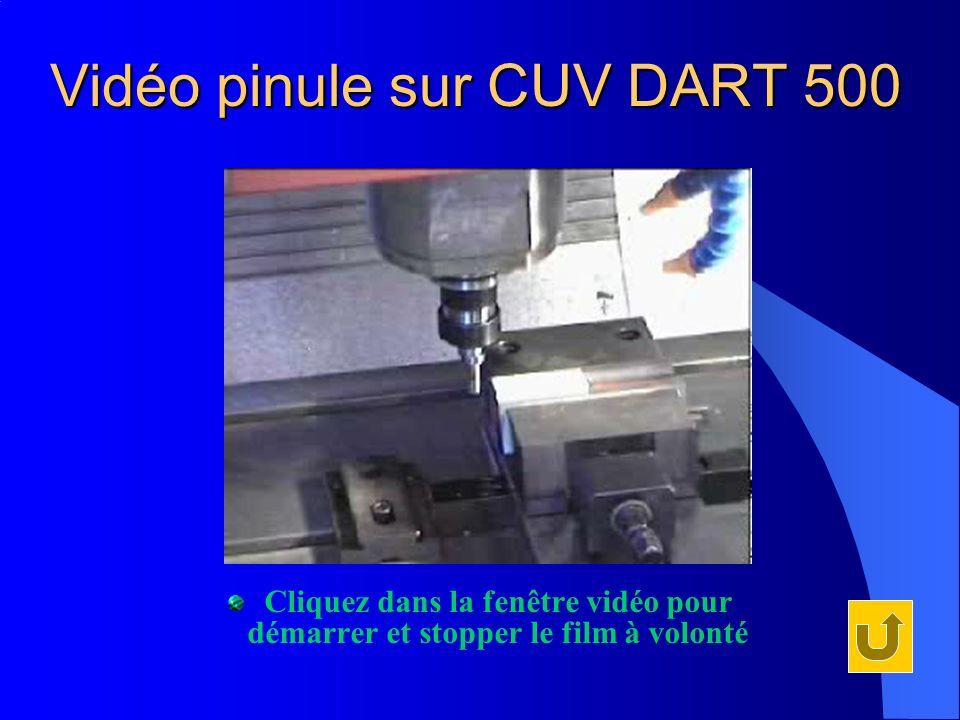 Vidéo pinule sur CUV DART 500