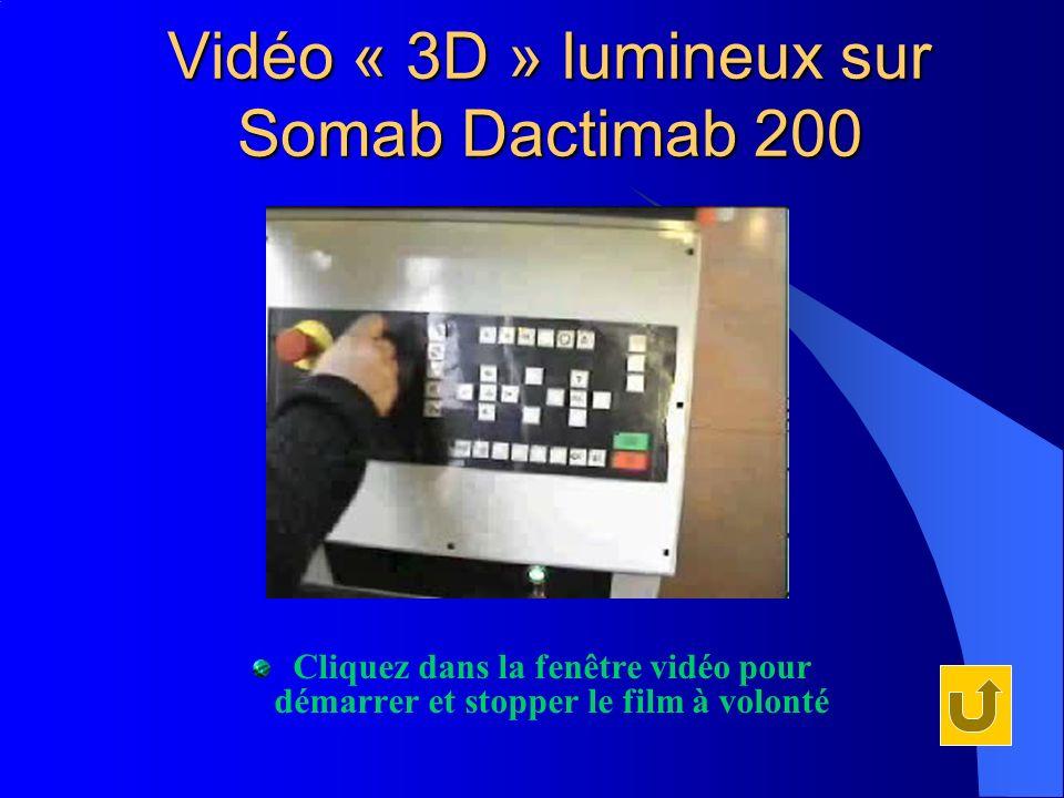 Vidéo « 3D » lumineux sur Somab Dactimab 200