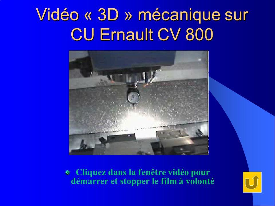 Vidéo « 3D » mécanique sur CU Ernault CV 800