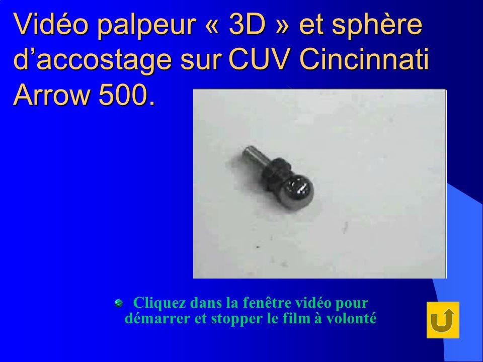 Vidéo palpeur « 3D » et sphère d'accostage sur CUV Cincinnati Arrow 500.