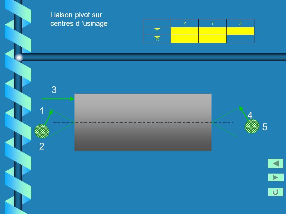 Liaison pivot sur centres d 'usinage