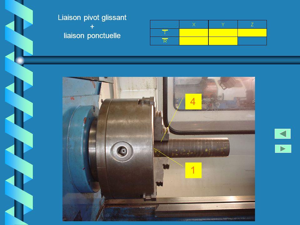 Liaison pivot glissant + liaison ponctuelle