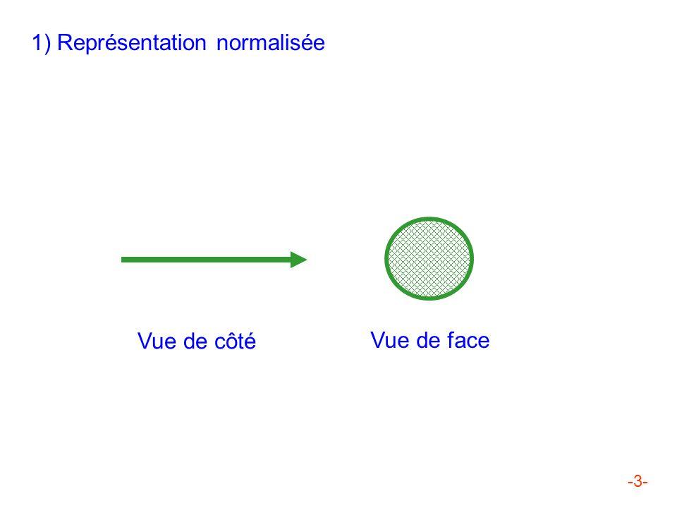 1) Représentation normalisée