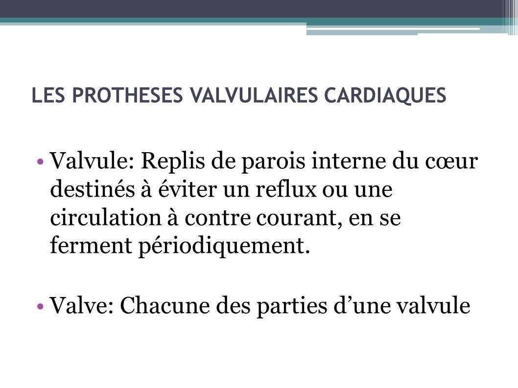 LES PROTHESES VALVULAIRES CARDIAQUES