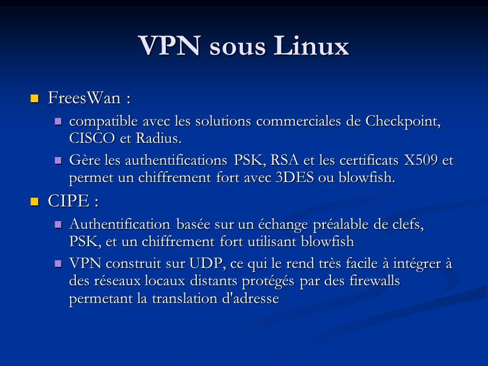 VPN sous Linux FreesWan : CIPE :