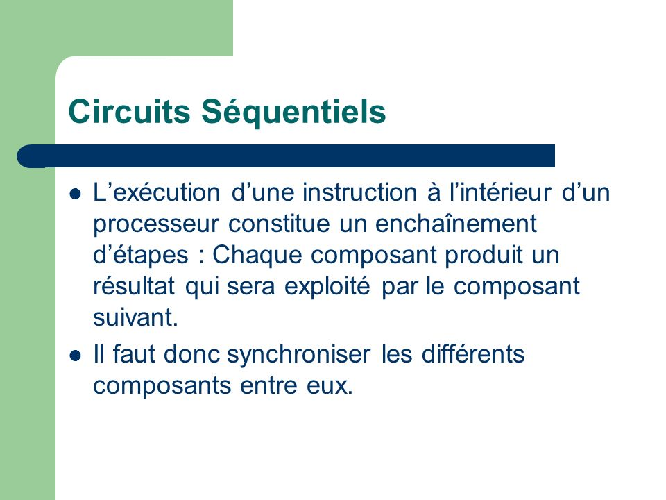 Circuits Séquentiels
