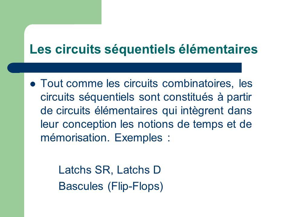 Les circuits séquentiels élémentaires