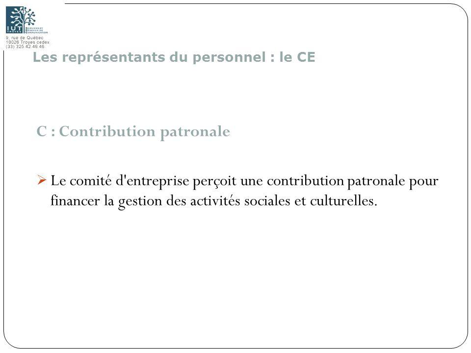 C : Contribution patronale