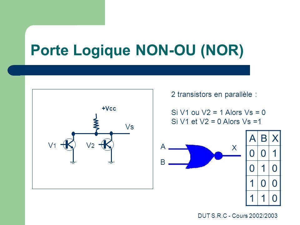 Porte Logique NON-OU (NOR)