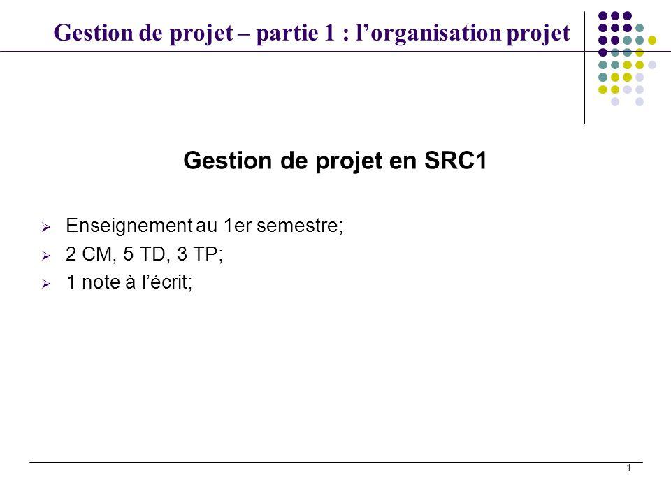 Gestion de projet en SRC1