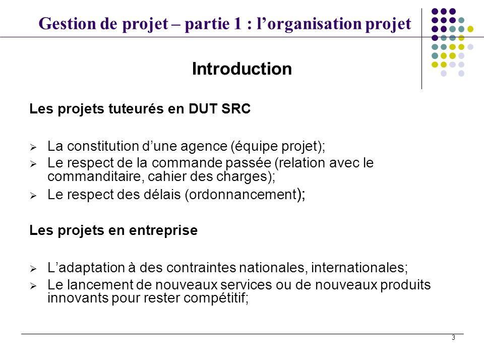 Introduction Les projets tuteurés en DUT SRC
