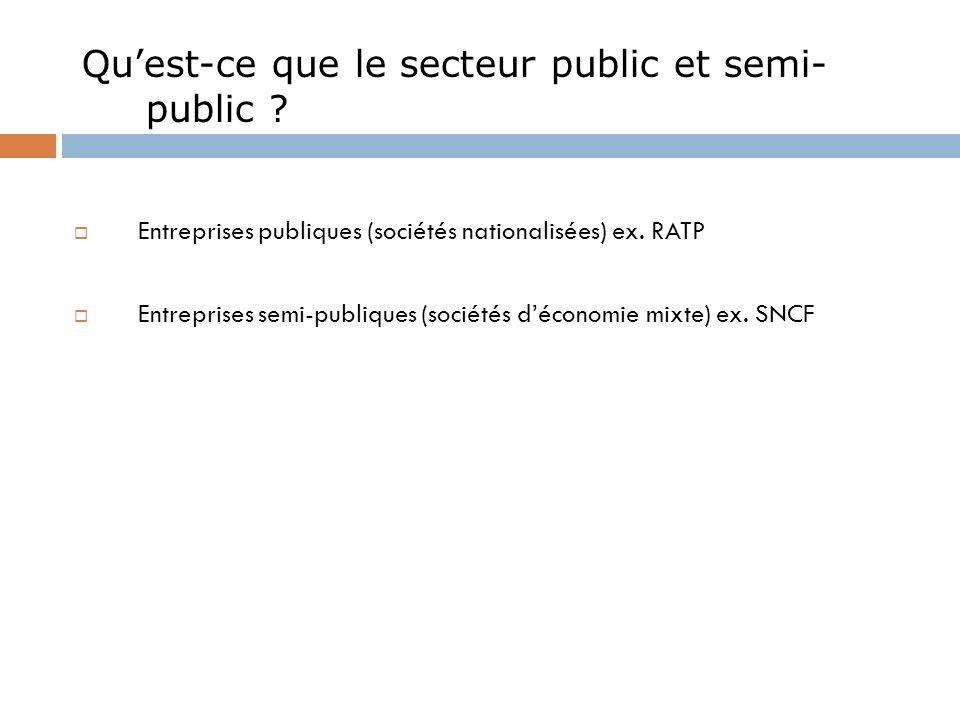 Qu'est-ce que le secteur public et semi-public