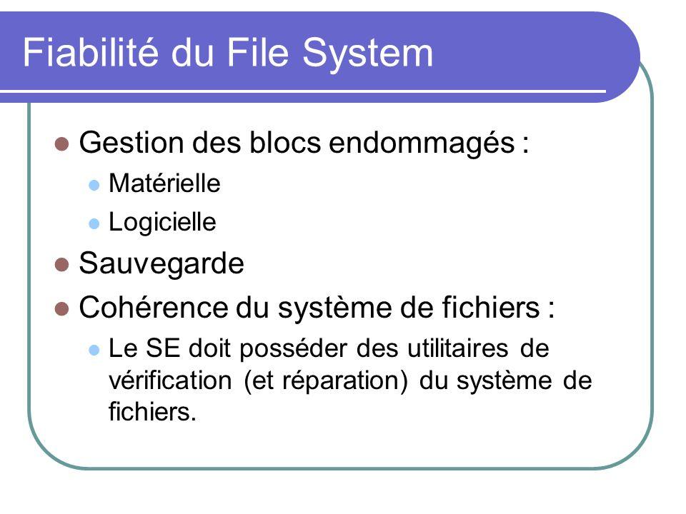 Fiabilité du File System