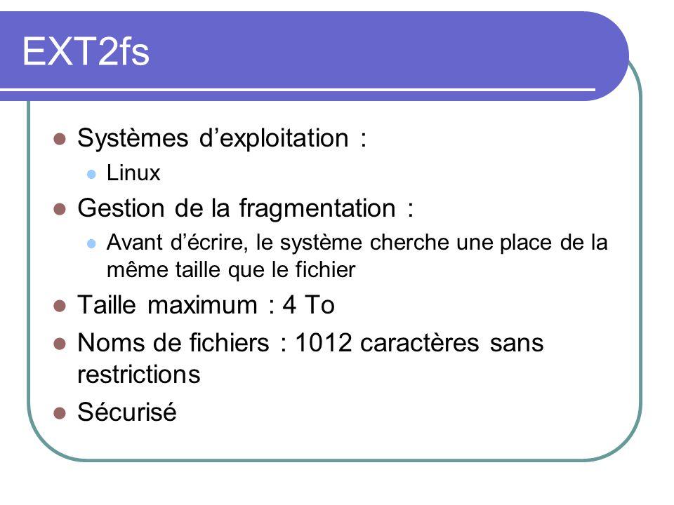 EXT2fs Systèmes d'exploitation : Gestion de la fragmentation :