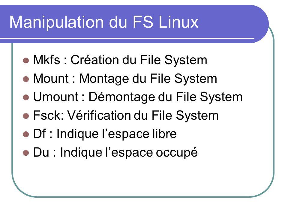 Manipulation du FS Linux