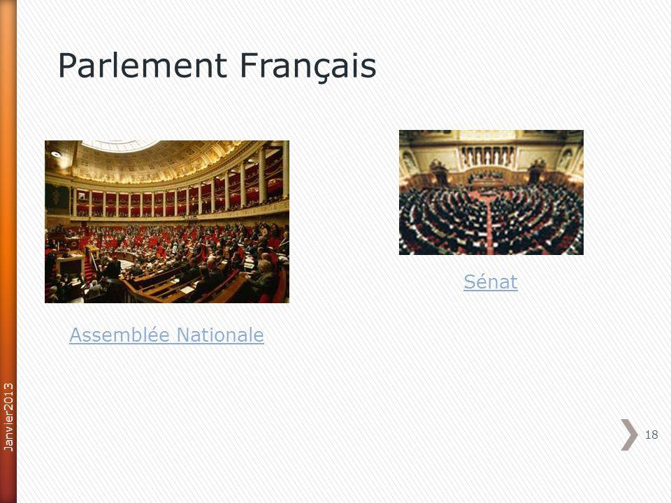 Parlement Français Sénat Assemblée Nationale Janvier2013