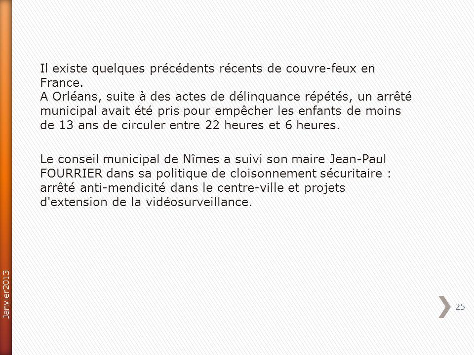 Il existe quelques précédents récents de couvre-feux en France