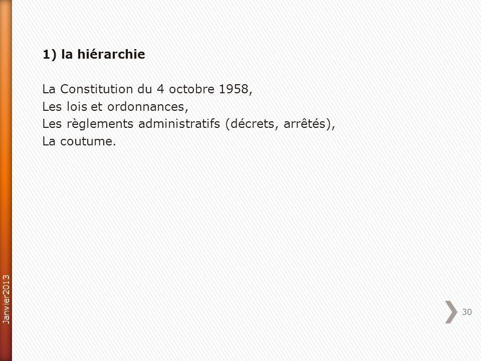 La Constitution du 4 octobre 1958, Les lois et ordonnances,