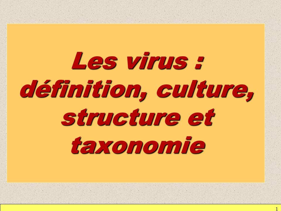 Les virus : définition, culture, structure et taxonomie