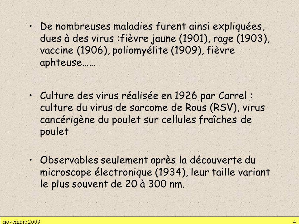 De nombreuses maladies furent ainsi expliquées, dues à des virus :fièvre jaune (1901), rage (1903), vaccine (1906), poliomyélite (1909), fièvre aphteuse……