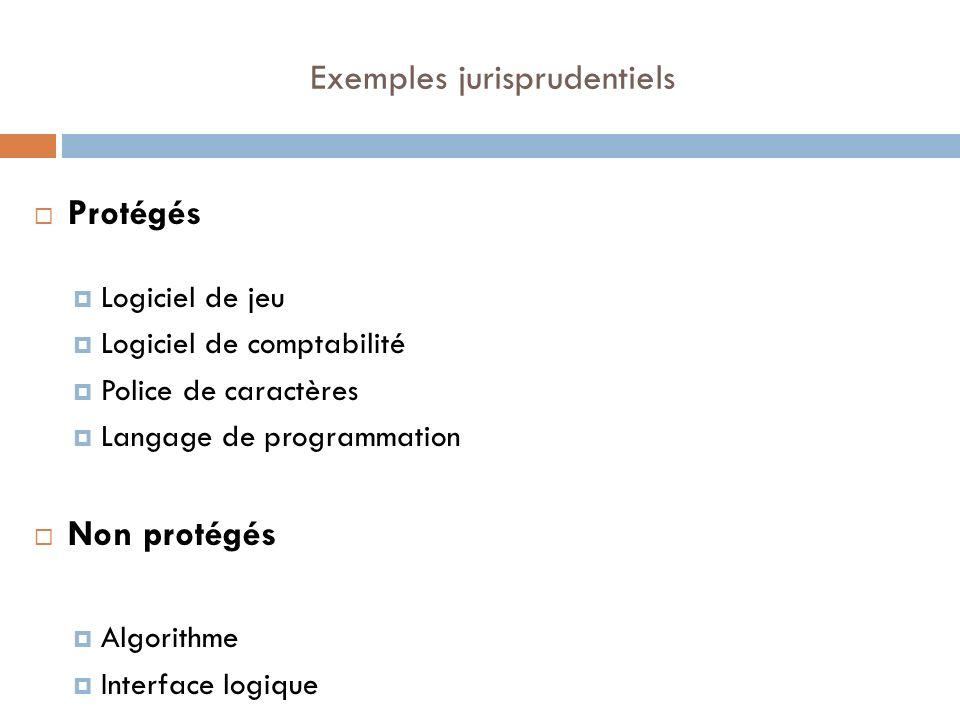 Exemples jurisprudentiels