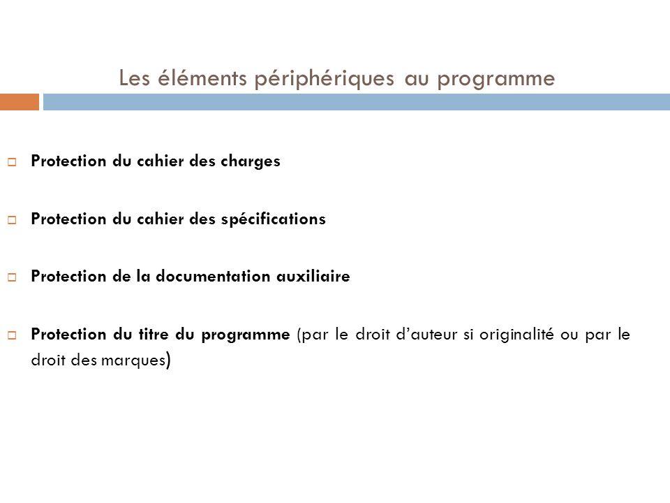 Les éléments périphériques au programme