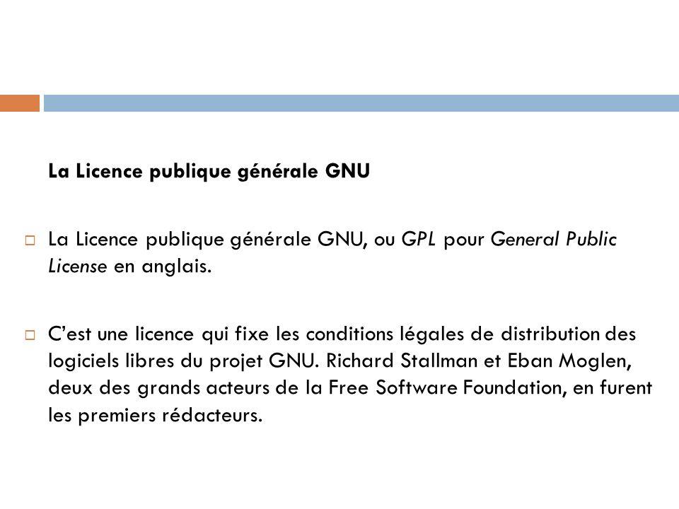 La Licence publique générale GNU