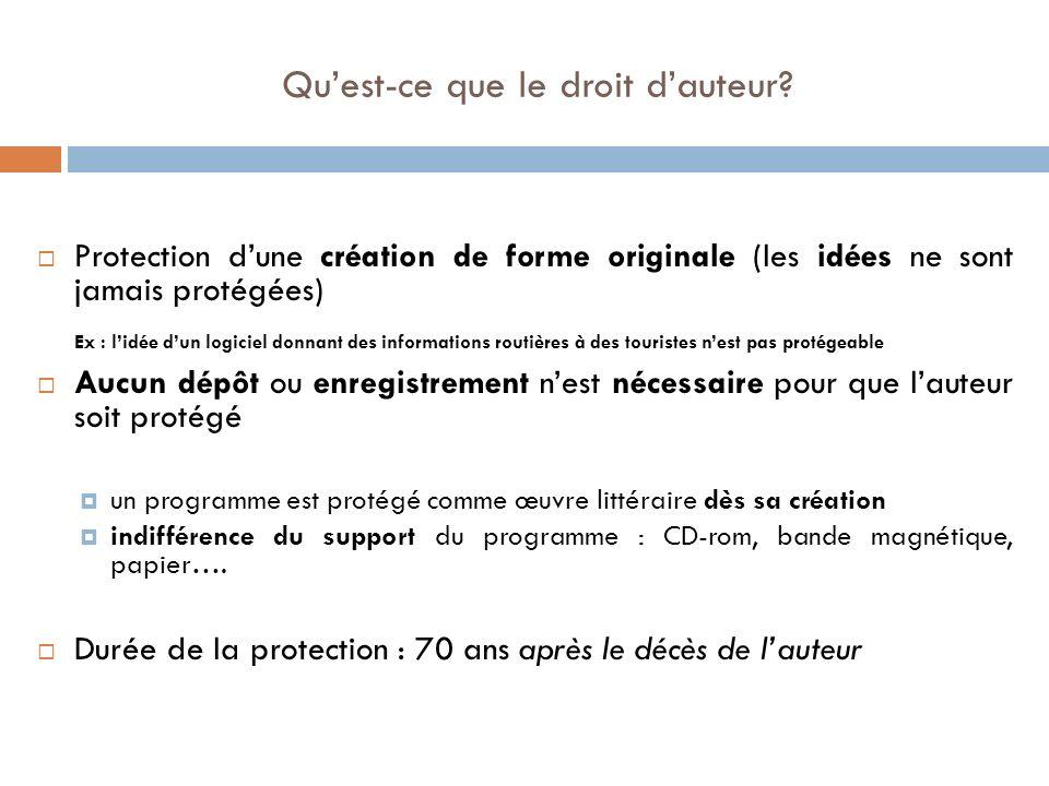 Qu'est-ce que le droit d'auteur