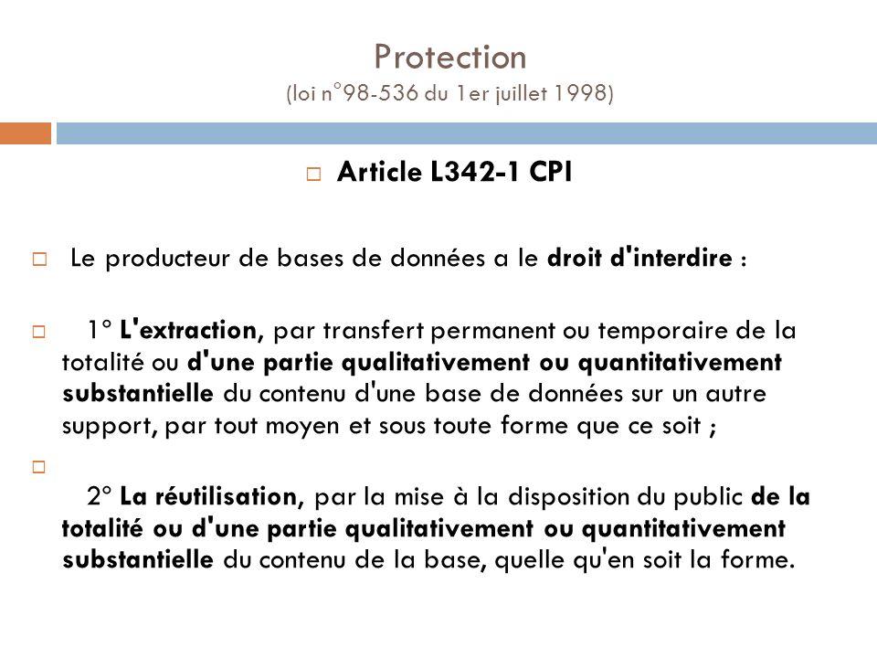 Protection (loi n°98-536 du 1er juillet 1998)