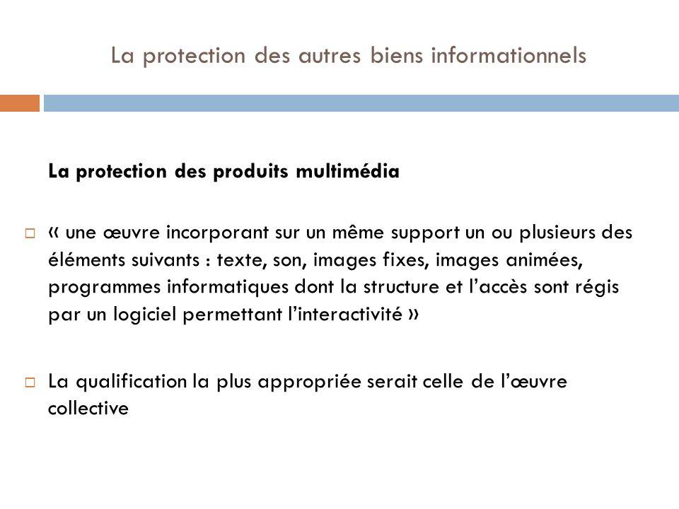 La protection des autres biens informationnels