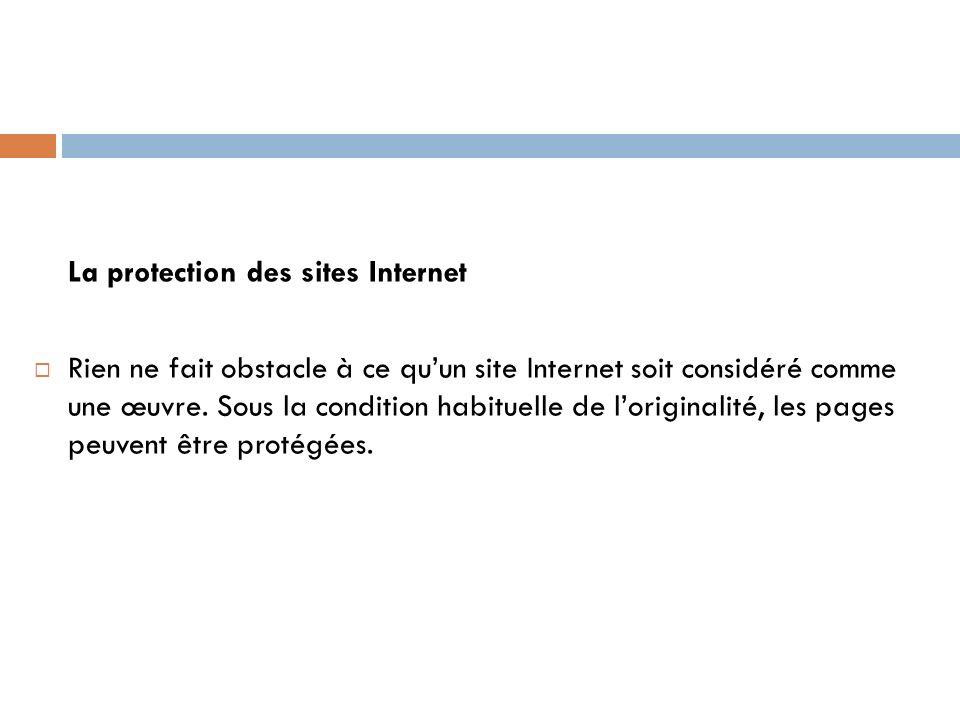 La protection des sites Internet