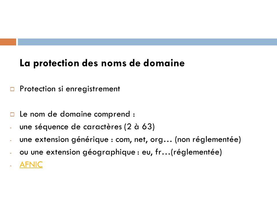 La protection des noms de domaine
