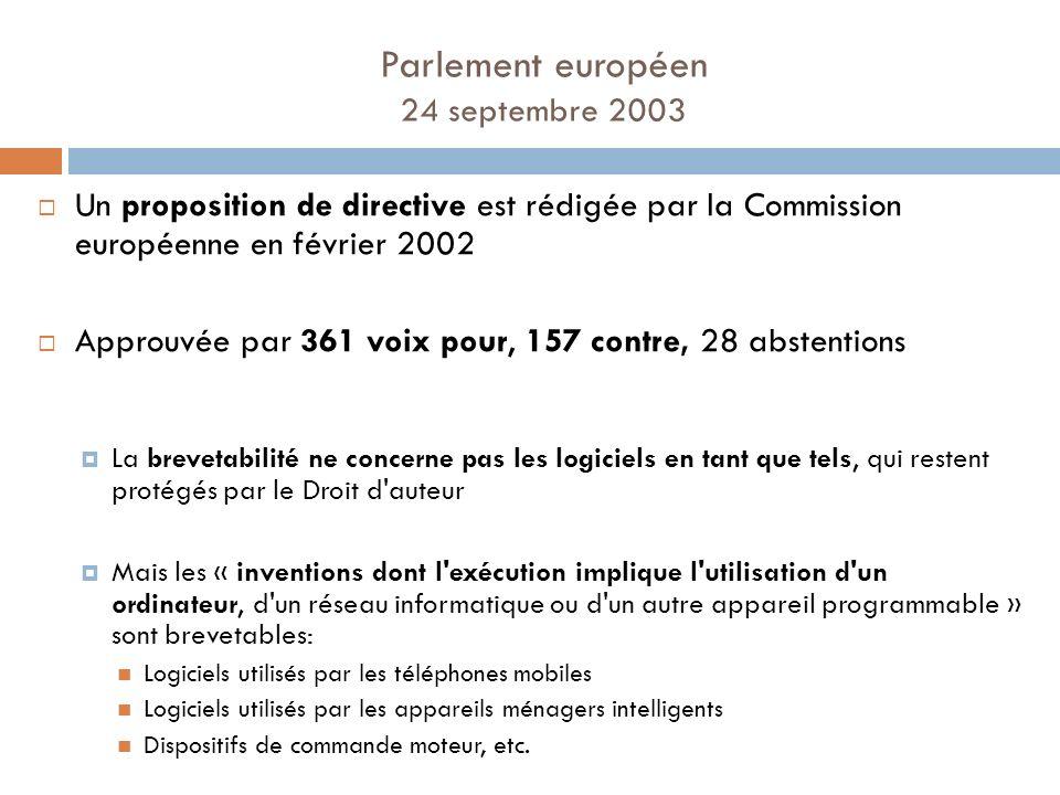 Parlement européen 24 septembre 2003