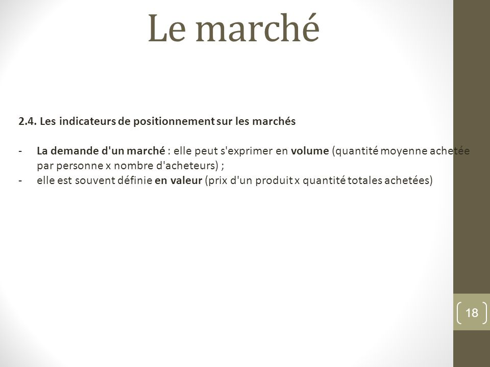 Le march 1 notion de march 1 1 d finition du concept - Quantite de spaghetti par personne ...