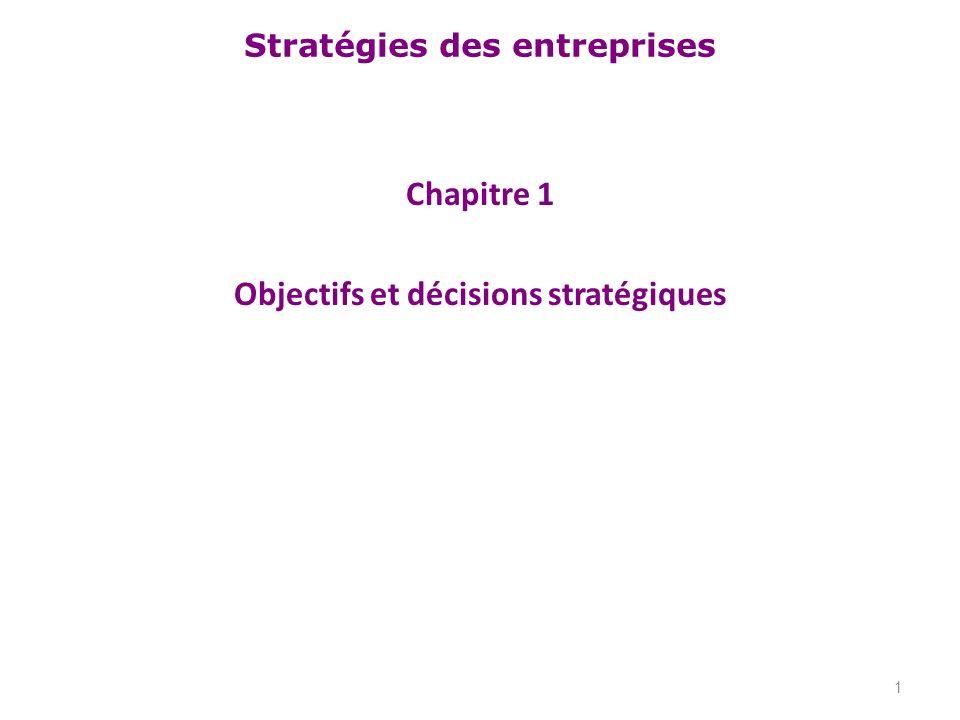 Chapitre 1 Objectifs et décisions stratégiques